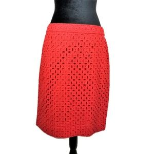 J-Crew-Pencil-Red-Eyelet-Knee-Length-Skirt-10